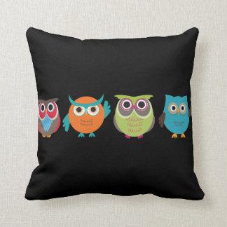 Retro Owls Pillow