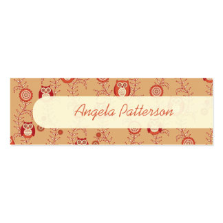 Retro Owls Skinny Mommy Calling Cards