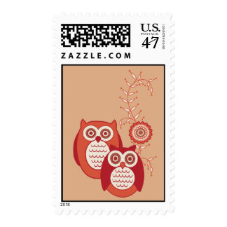 Retro Owls Stamp