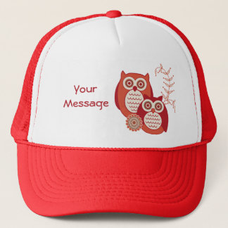 Retro Owls Trucker Hat