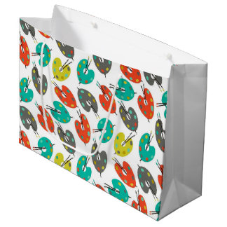 Retro Paint Palettes Large Gift Bag