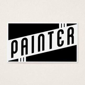 retro painter business card