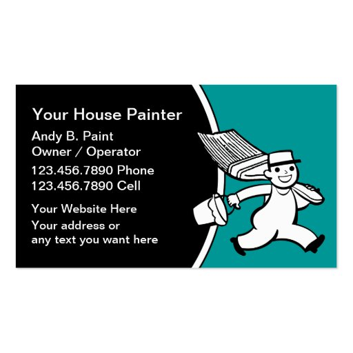 600 painting contractor business cards and painting for Painter business card template