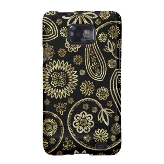 Retro Paisley &Circles -Gold & Diamonds Pattern Galaxy SII Cover