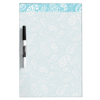 Retro Paisley in Teal Blue Dry-Erase Board