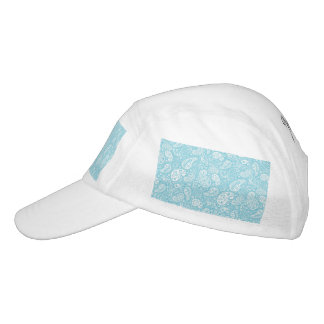Retro Paisley in Teal Blue Hat
