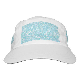 Retro Paisley in Teal Blue Headsweats Hat
