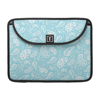 Retro Paisley in Teal Blue Sleeve For MacBook Pro