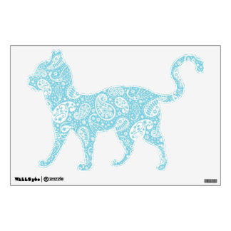 Retro Paisley in Teal Blue Wall Sticker
