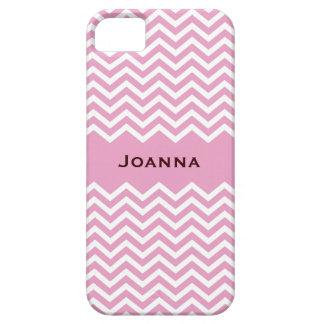 Retro pale pink chevron pattern iPhone 5 case
