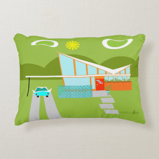 Retro Palm Springs House Accent Pillow