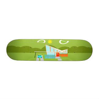 Retro Palm Springs House Skateboard