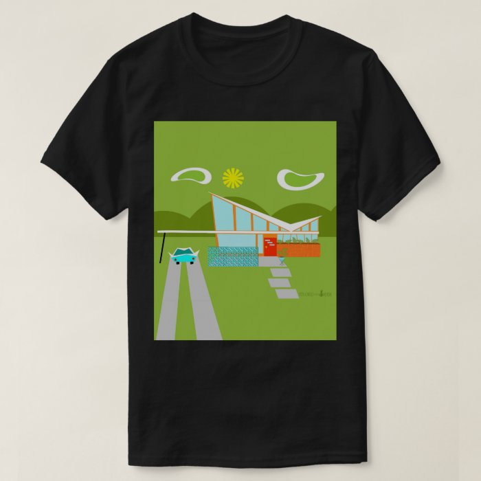 Retro palm springs house t shirt zazzle for T shirt city palm springs