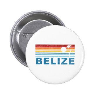 Retro Palm Tree Belize Button