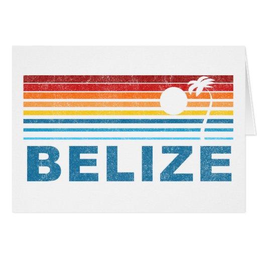 Retro Palm Tree Belize Card