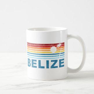 Retro Palm Tree Belize Coffee Mug