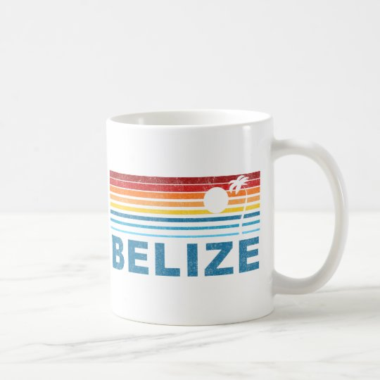 Retro Palm Tree Belize Coffee Mug