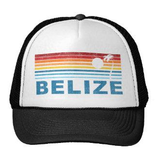 Retro Palm Tree Belize Trucker Hat