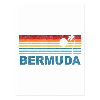 Retro Palm Tree Bermuda Postcard