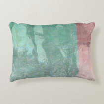 Retro Palm Trees Reflection Accent Pillow