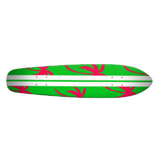 Retro Palms - Green and Pink Skateboard