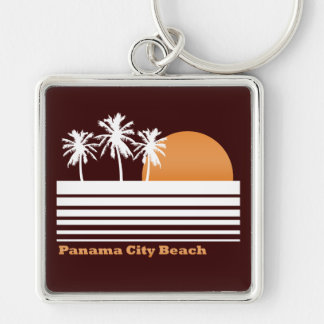 Retro Panama City Beach Keychain