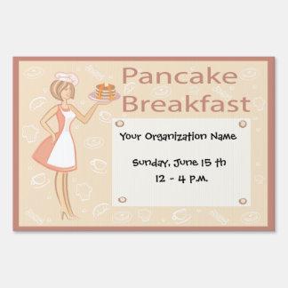 Retro Pancake Breakfast Yard Sign