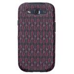 Retro Paper Clip Pattern Samsung Galaxy S3 Case