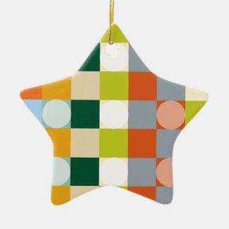 Retro paper de graderías adorno de cerámica en forma de estrella