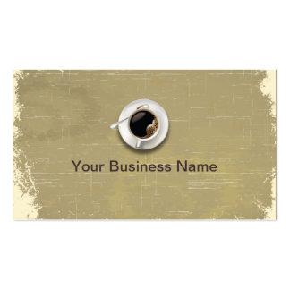 Retro Paper Texture Coffee Shop business card