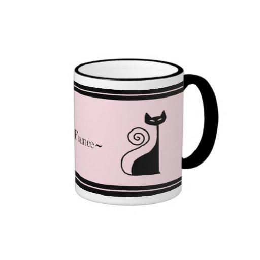 Retro Paris Chic Kitty Cat Mug