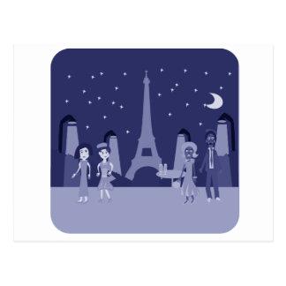 Retro Paris Postcard