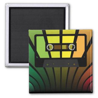 Retro Party 2 Inch Square Magnet