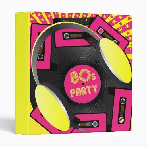 Retro Party 3 Ring Binder