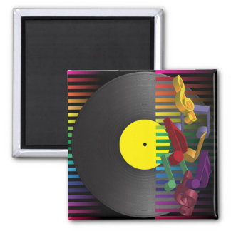 Retro Party Background 2 Inch Square Magnet