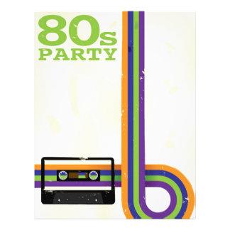 "Retro Party Background 8.5"" X 11"" Flyer"