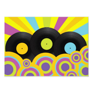 Retro Party Background Card