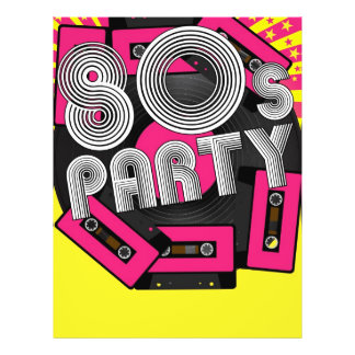 Retro Party Background Flyer