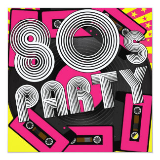 Retro Party Background Invitation