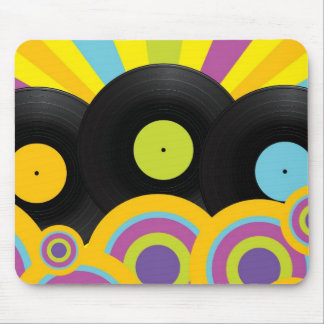 Retro Party Background Mousepads
