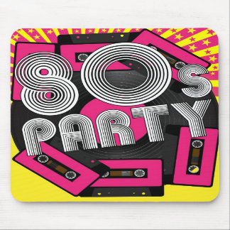 Retro Party Background Mouse Pad