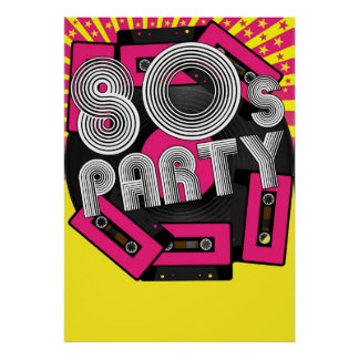 Retro Party Background Posters