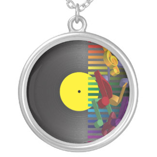 Retro Party Background Silver Plated Necklace