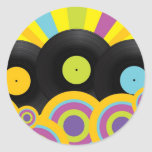 Retro Party Background Stickers