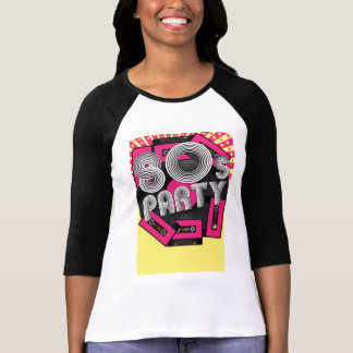 Retro Party Background Tee Shirt