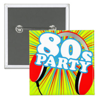 Retro Party Buttons