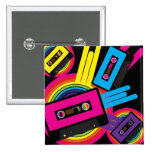 Retro Party Design 2 Inch Square Button
