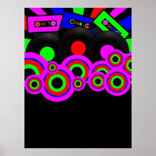 Retro Party Design Poster