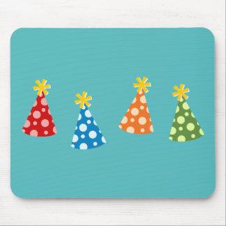 Retro Party Hats Mouse Pad