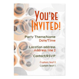 Retro Party Invite Card Business Card Templates